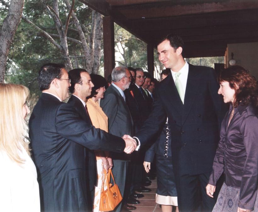 Nicolás Ramos Pintado con su Alteza Real el Príncipe de Asturias, Don Felipe de Borbón y Grecia