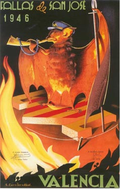 CARTEL DE FALLAS 1946