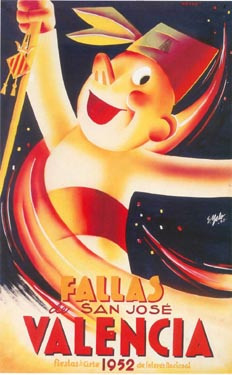 CARTEL DE FALLAS 1952
