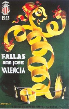CARTEL DE FALLAS 1953