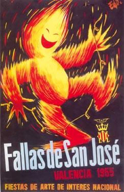 CARTEL DE FALLAS 1955