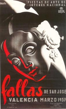 CARTEL DE FALLAS 1957