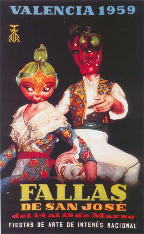CARTEL DE FALLAS 1959