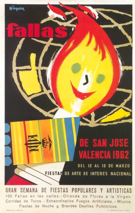 CARTEL DE FALLAS 1962