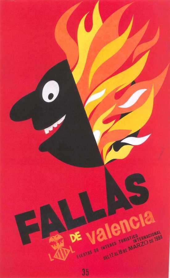 CARTEL DE FALLAS 1986