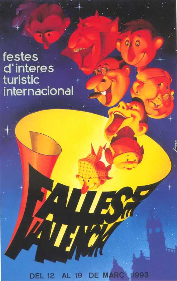 CARTEL DE FALLAS 1993