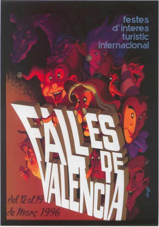 CARTEL DE FALLAS 1996