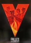 el cartel anunciador de las Fallas de 2015  diseño presentado por Vicent Ramón Pascual, titulado 'Uve fallera',