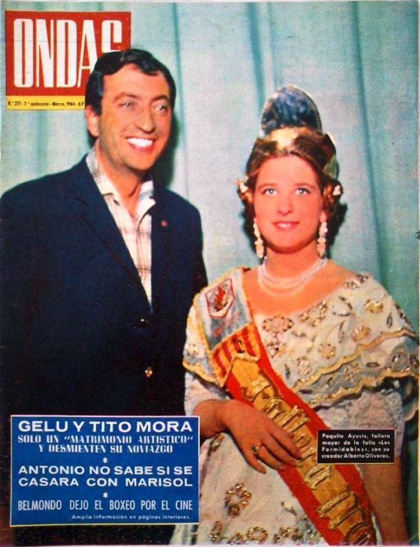 1964 alberto oliveras y la fallera mayor de los formidables